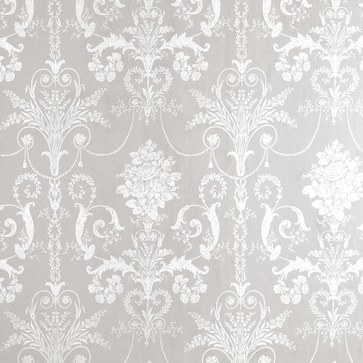 Grey And White Patterned Wallpaper
