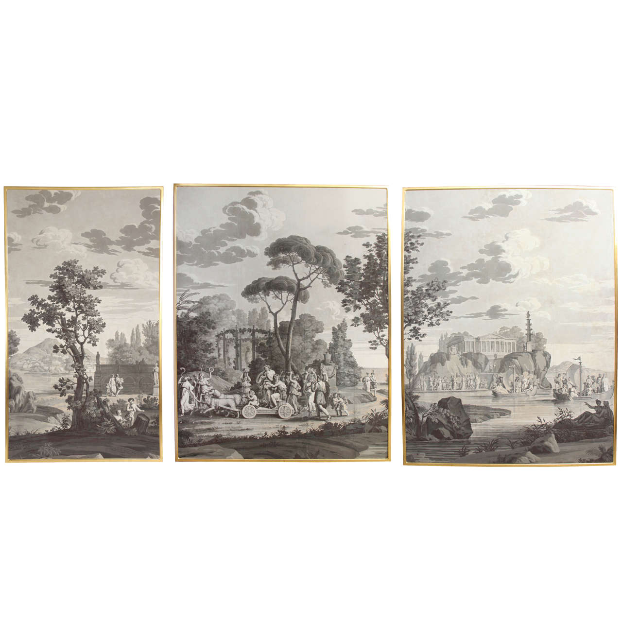 Grisaille Wallpaper For Sale