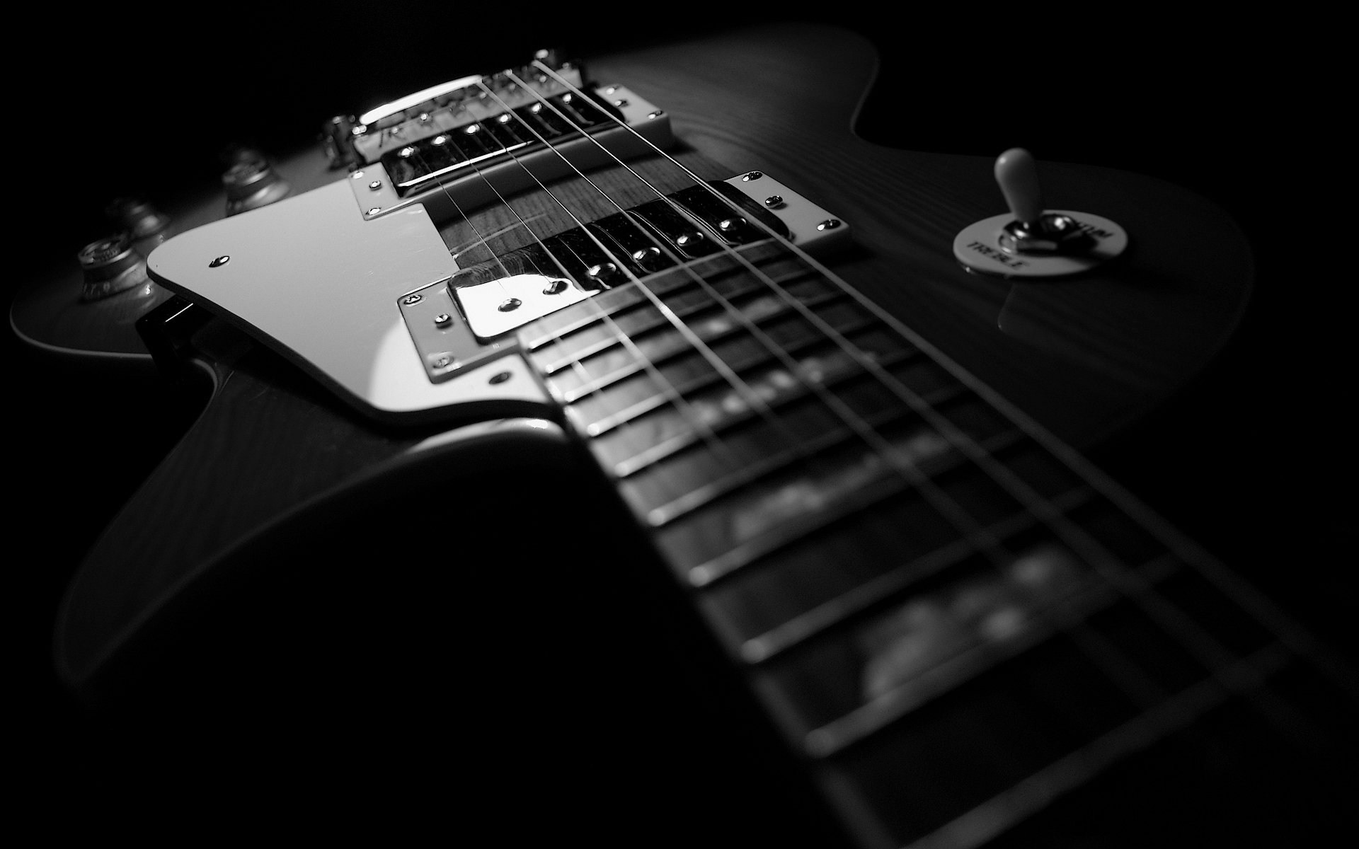 Guitar Wallpaper Black