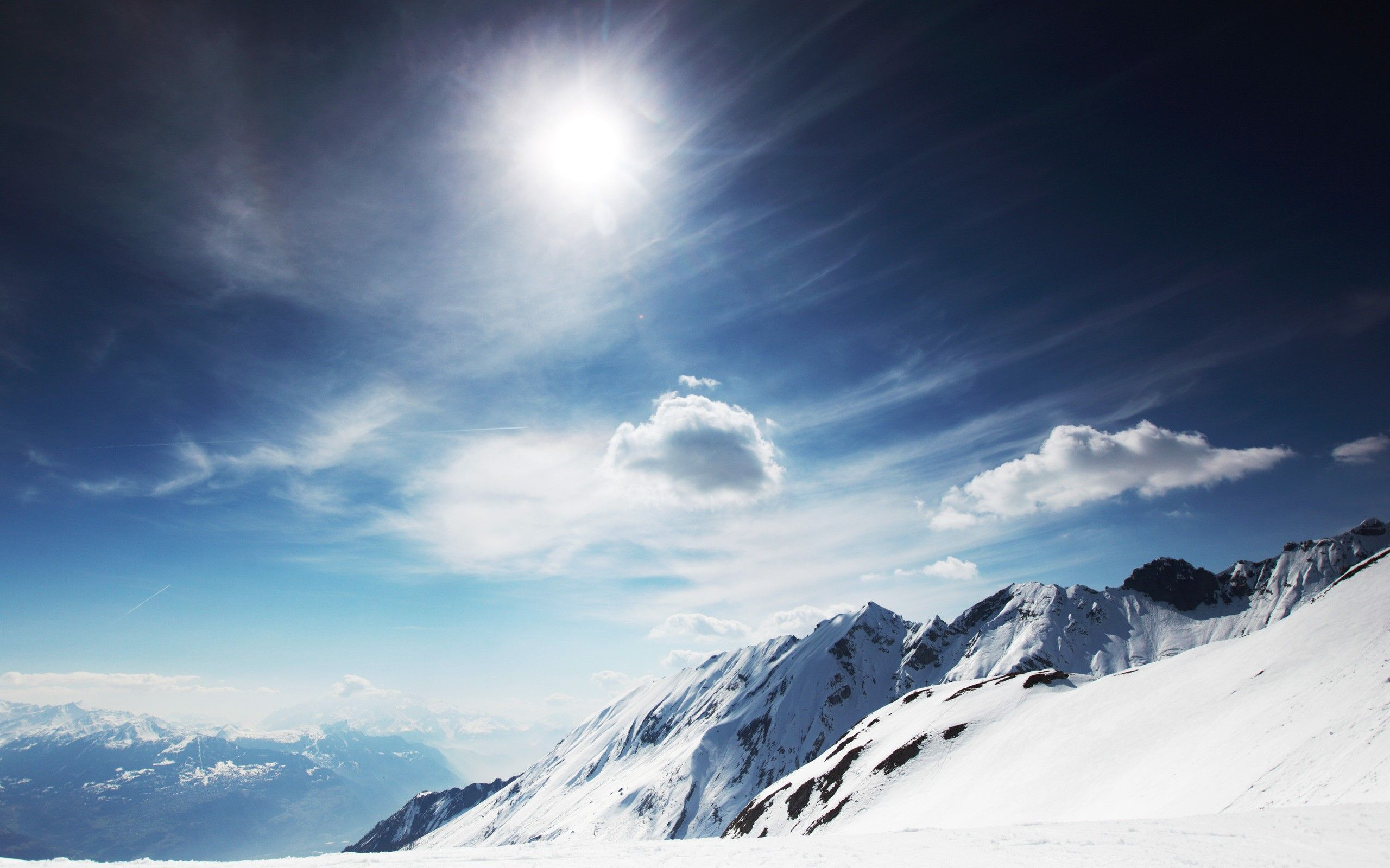 HD Snowy Mountain Wallpaper