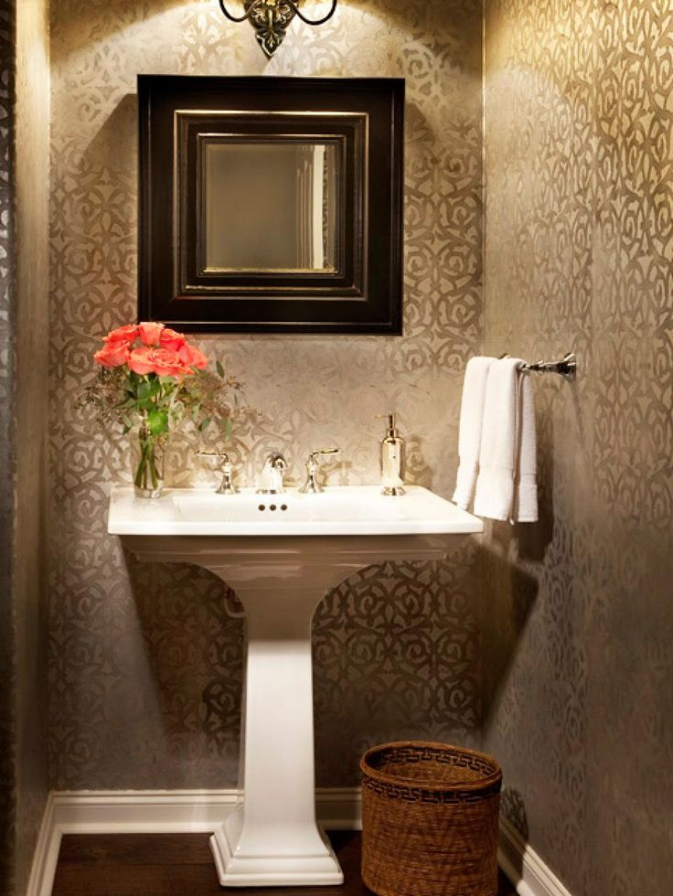 Half Bath Wallpaper Ideas