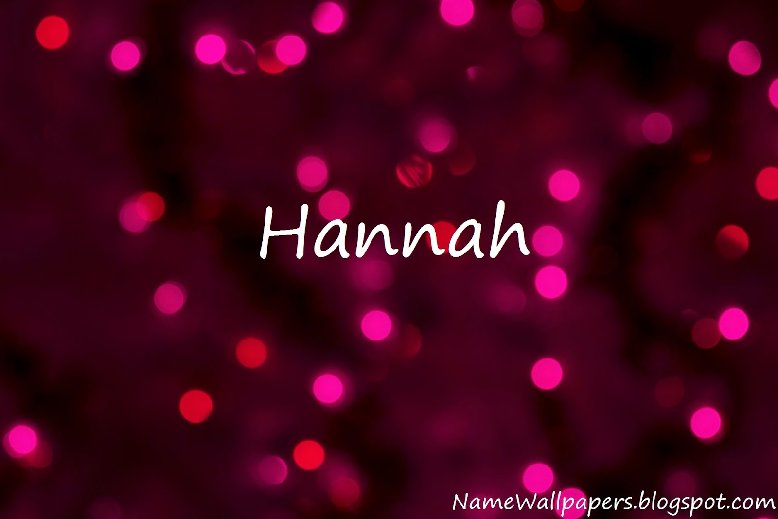 Hannah Name Wallpaper