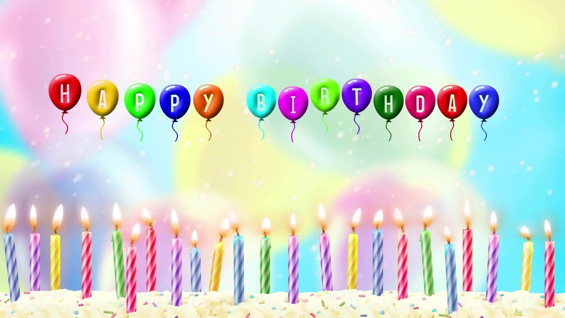 Happy Birthday Balloons Wallpaper