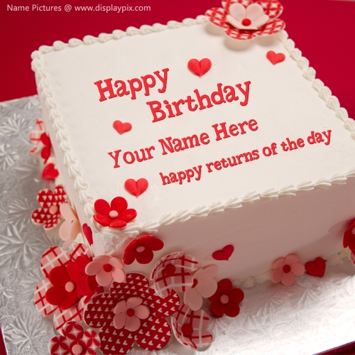 Happy Birthday Cake With Name Wallpaper