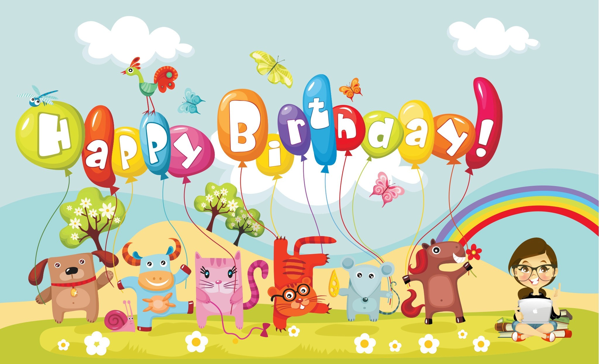 Happy Birthday Cartoon Wallpaper