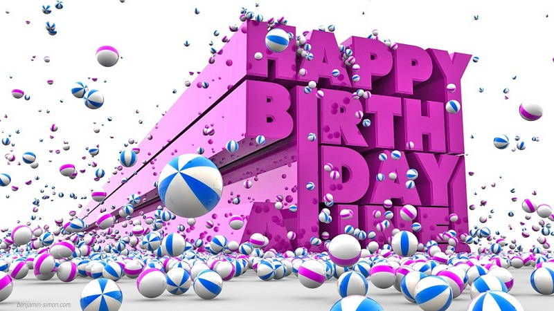 Happy Birthday HD 3D Wallpaper