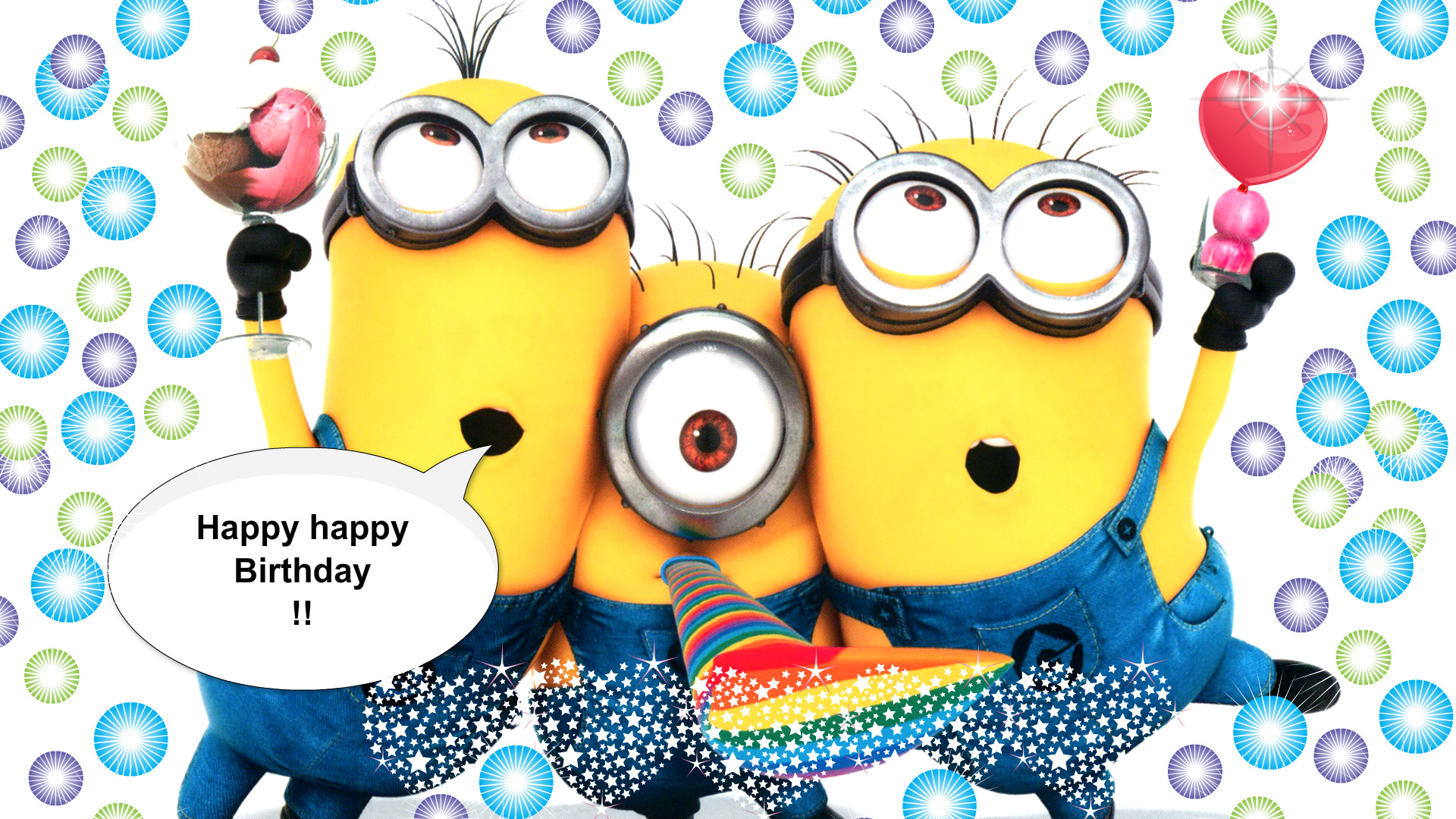 Happy Birthday Minions Wallpaper