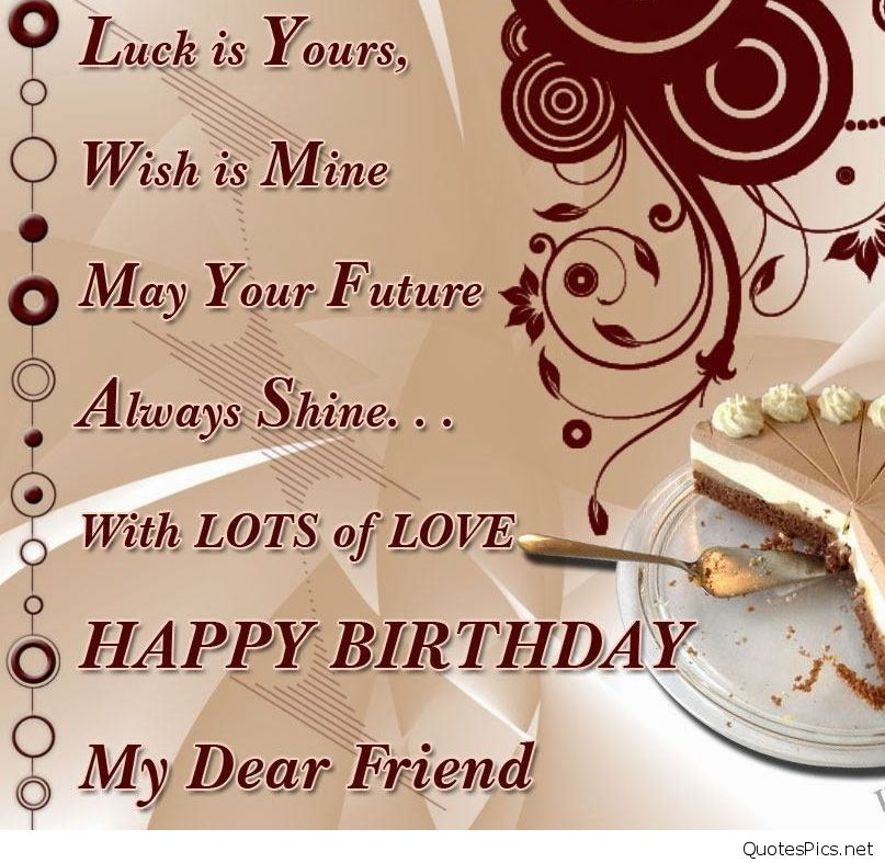 Happy Birthday Wishes For Friend Wallpaper