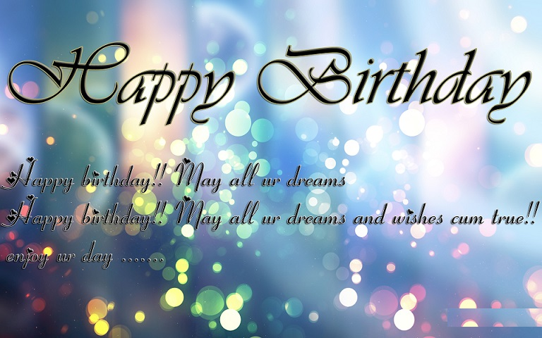 Happy Birthday Wishes HD Wallpapers