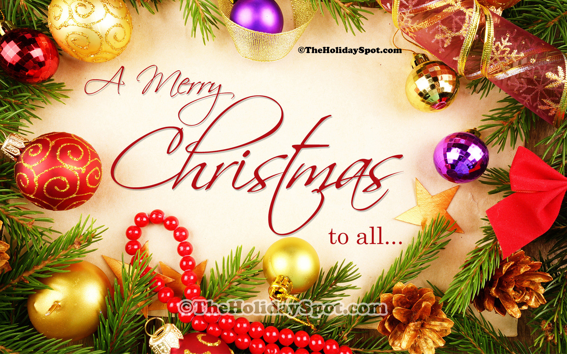 Happy Christmas Greetings Wallpapers