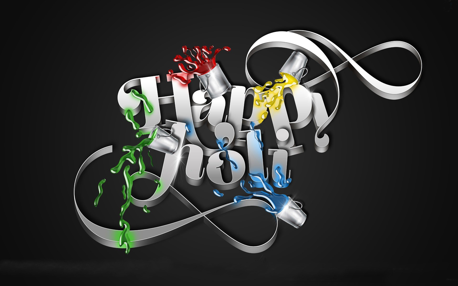 Happy Holi 3D Wallpaper