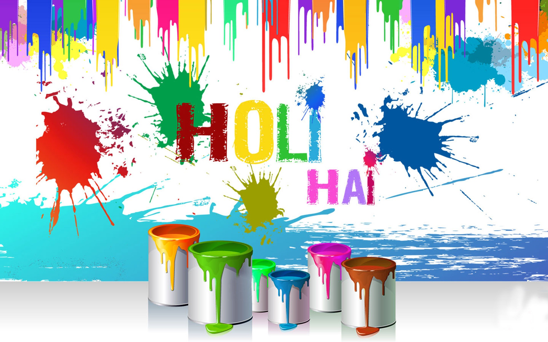 Happy Holi Full HD Wallpaper
