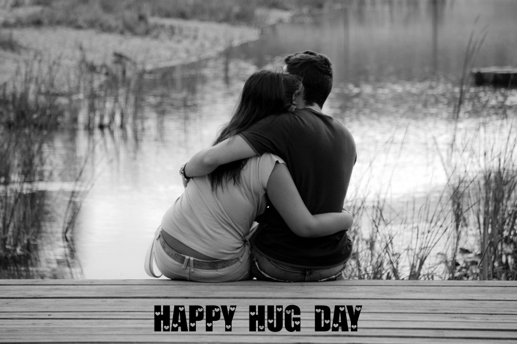 Happy Hug Day HD Wallpaper