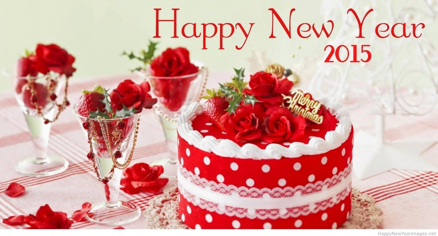 Happy New Year Cake Wallpaper