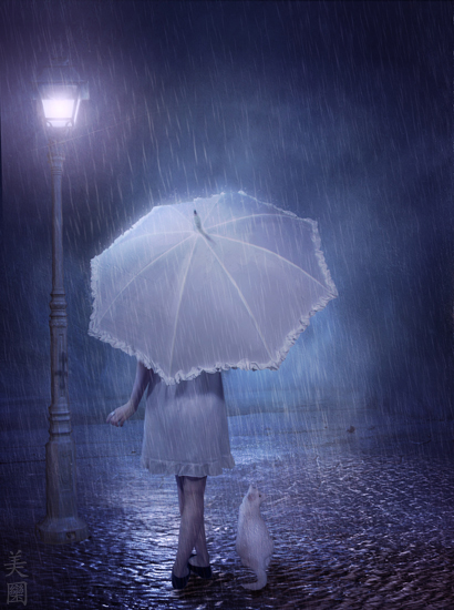 Happy Rainy Night Wallpaper