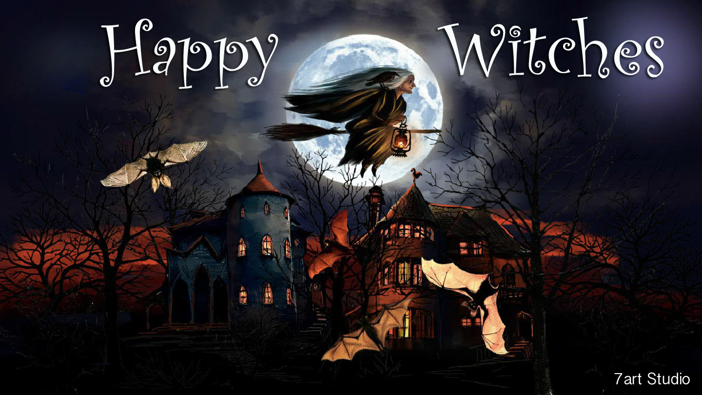 Happy Witches Live Wallpaper