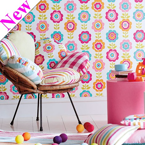 Harlequin Wallpaper Kids