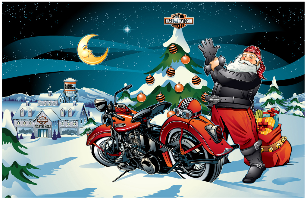 Harley Davidson Christmas Wallpaper