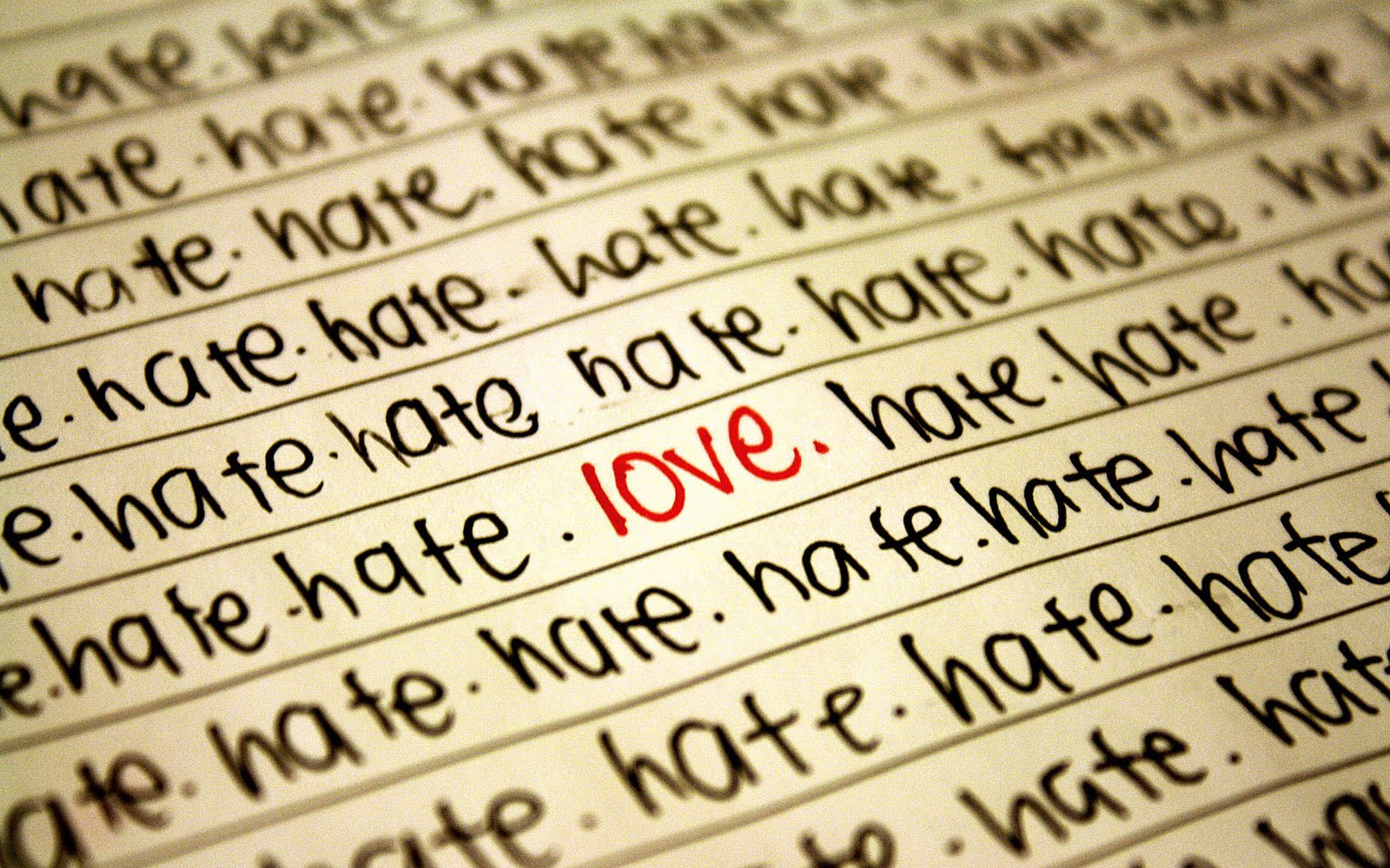 Hate Love Wallpaper HD