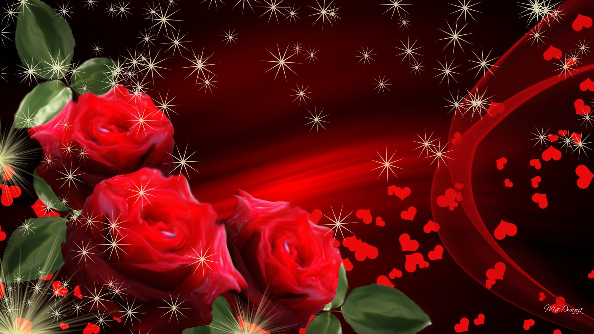 Download heart rose hd wallpapers gallery - Pink roses and hearts wallpaper ...