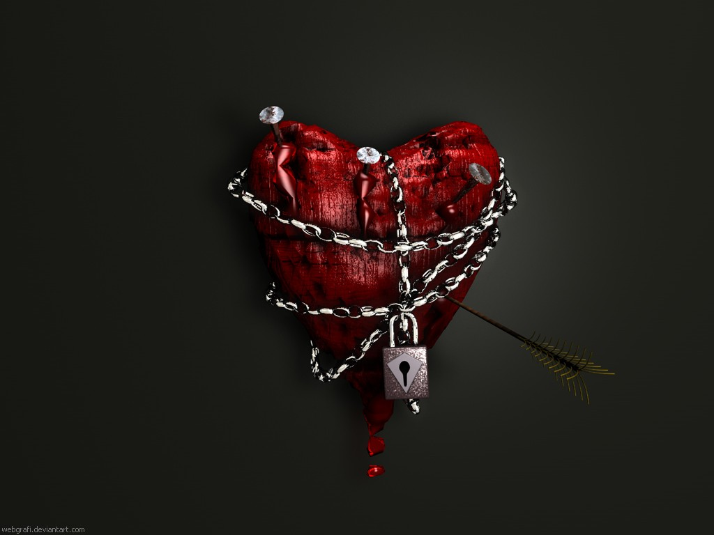 Heart With Blood Wallpaper