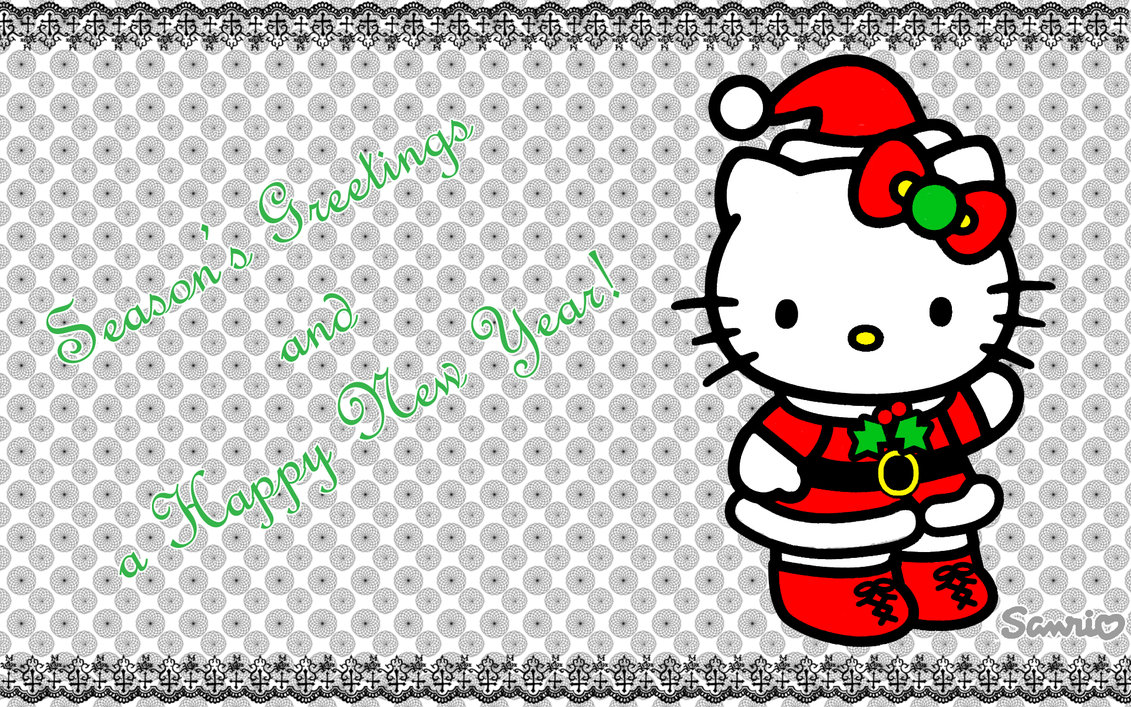 Hello Kitty Merry Christmas Wallpaper