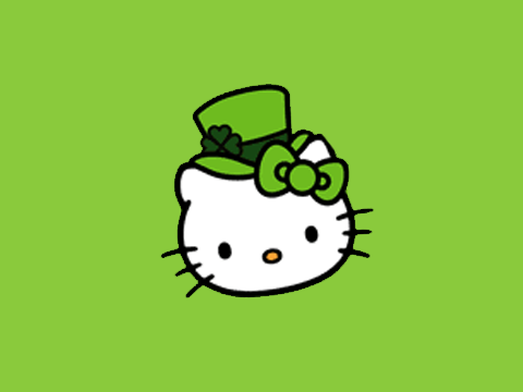 Hello Kitty St Patricks Day Wallpaper