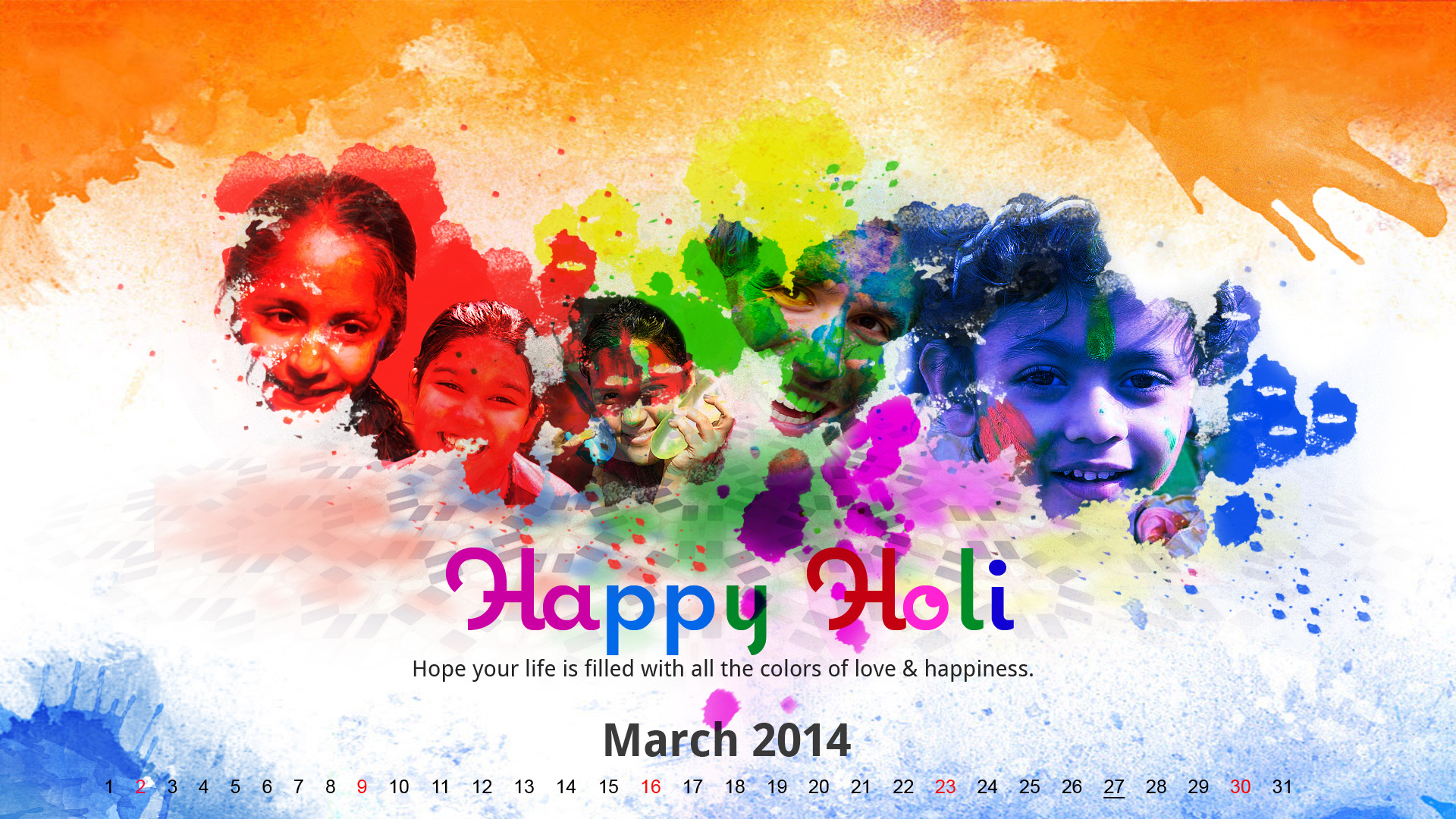 Holi Wallpaper 2014