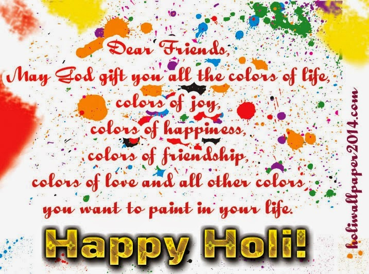 Holi Wallpaper With Quotes