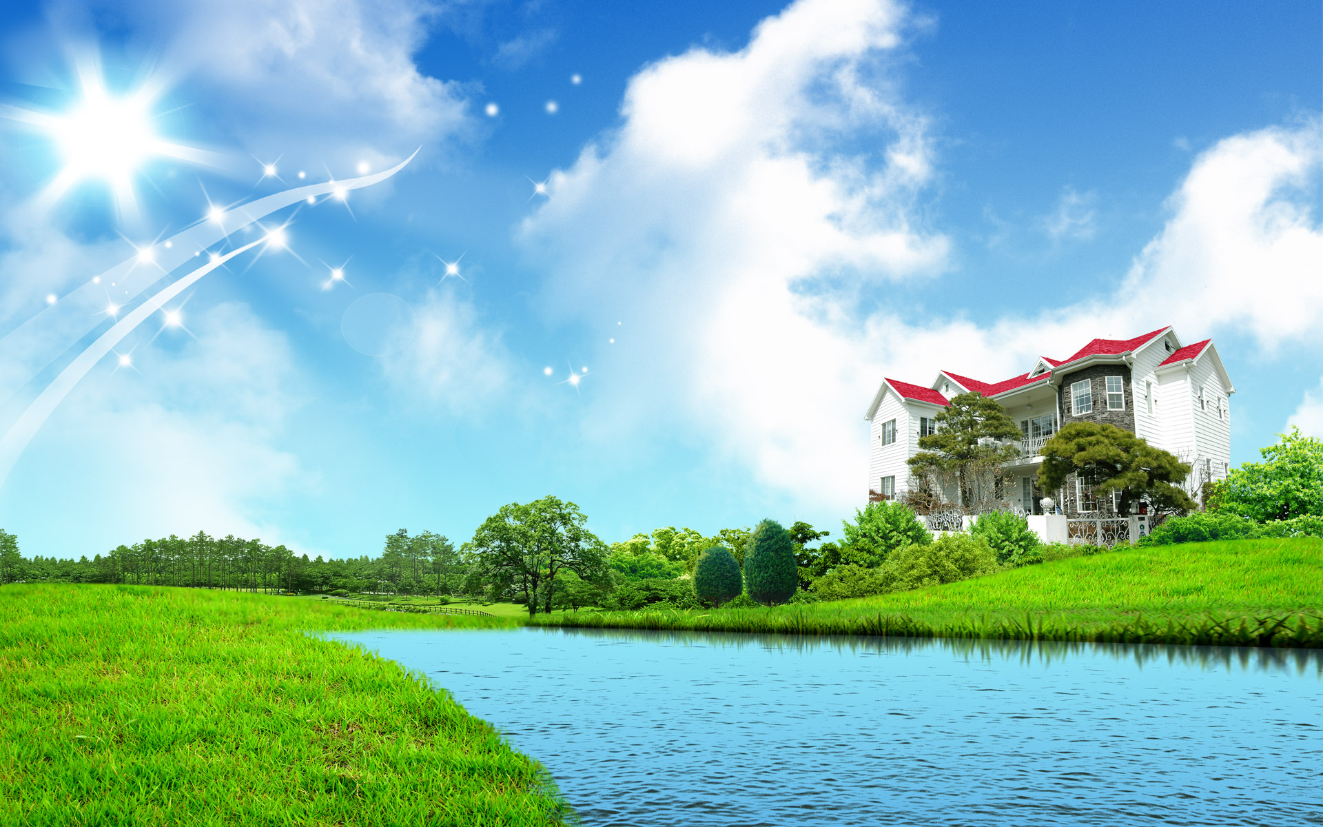 Home Scenery Wallpaper