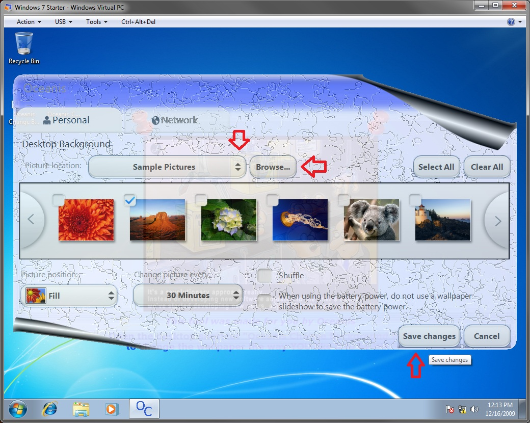 How To Change The Wallpaper In Windows 7 Starter