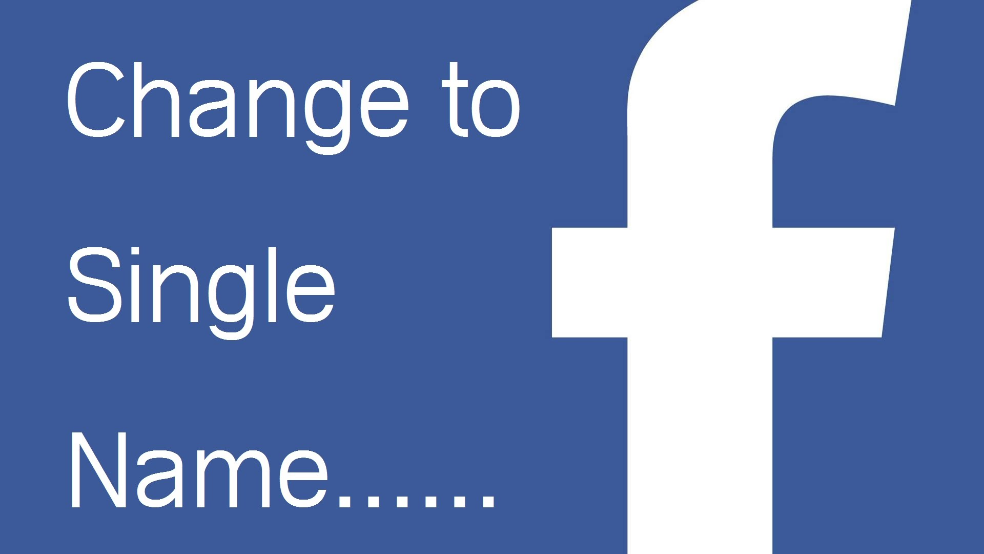 how to change the facebook