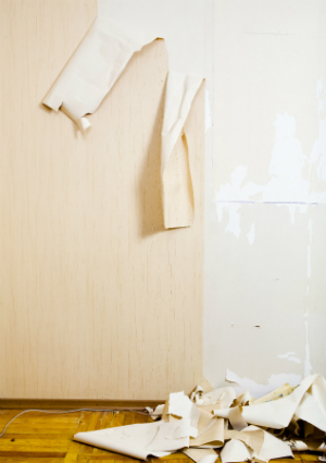How To Get Wallpaper Glue Residue Off Walls