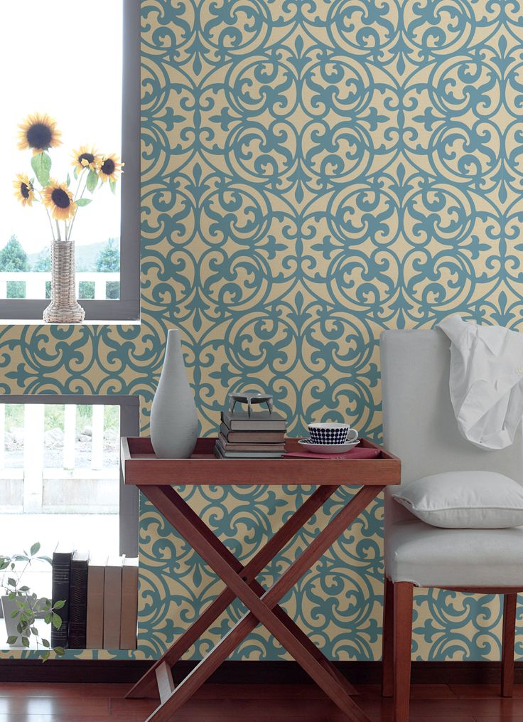 download how to hang patterned wallpaper on a feature wall. Black Bedroom Furniture Sets. Home Design Ideas