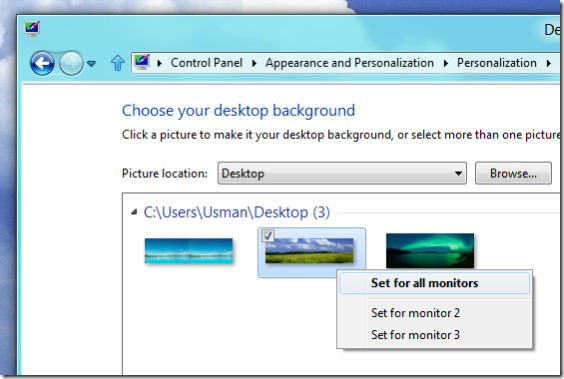 How To Have Different Wallpapers On Dual Monitors Windows 7