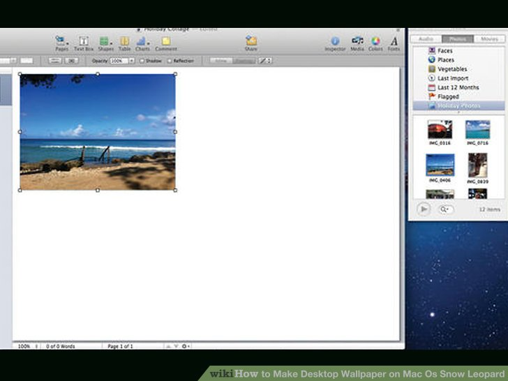 How To Make A Picture A Wallpaper On Mac