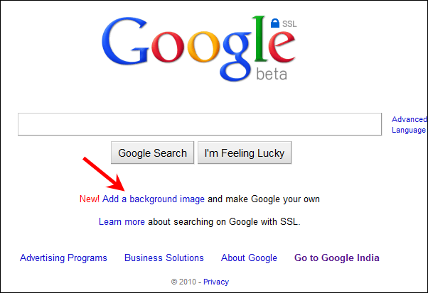 How To Put A Wallpaper On Google Homepage