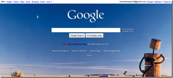 How To Set Wallpaper In Google Homepage