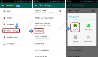 How To Set Wallpaper On Whatsapp