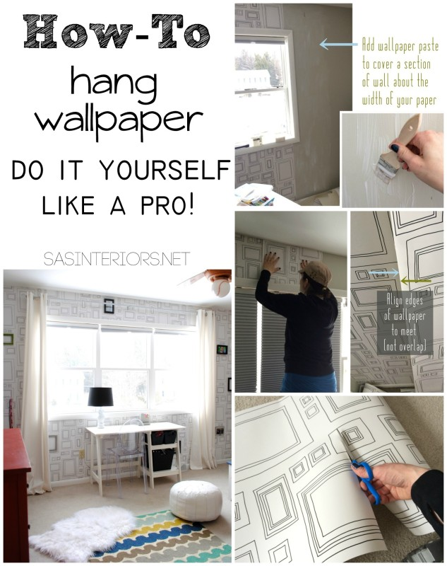 How To Stick Wallpaper On Wall