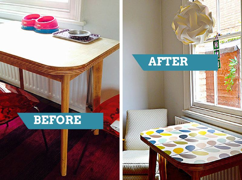 How To Stick Wallpaper To Furniture