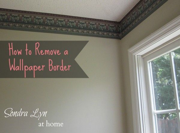 How To Take Off Old Wallpaper Border