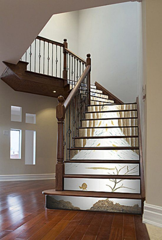 How To Wallpaper High Stairs