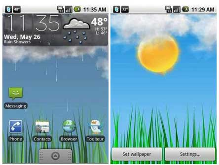Htc Weather Live Wallpaper