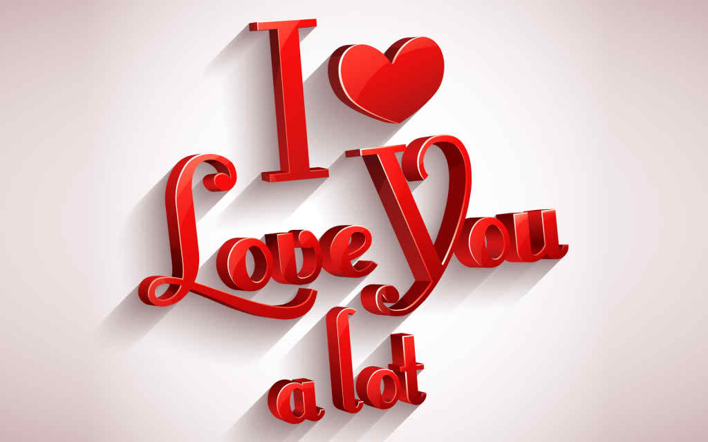 I Love You 3D Wallpaper