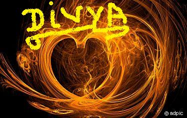 I Love You Divya Wallpaper
