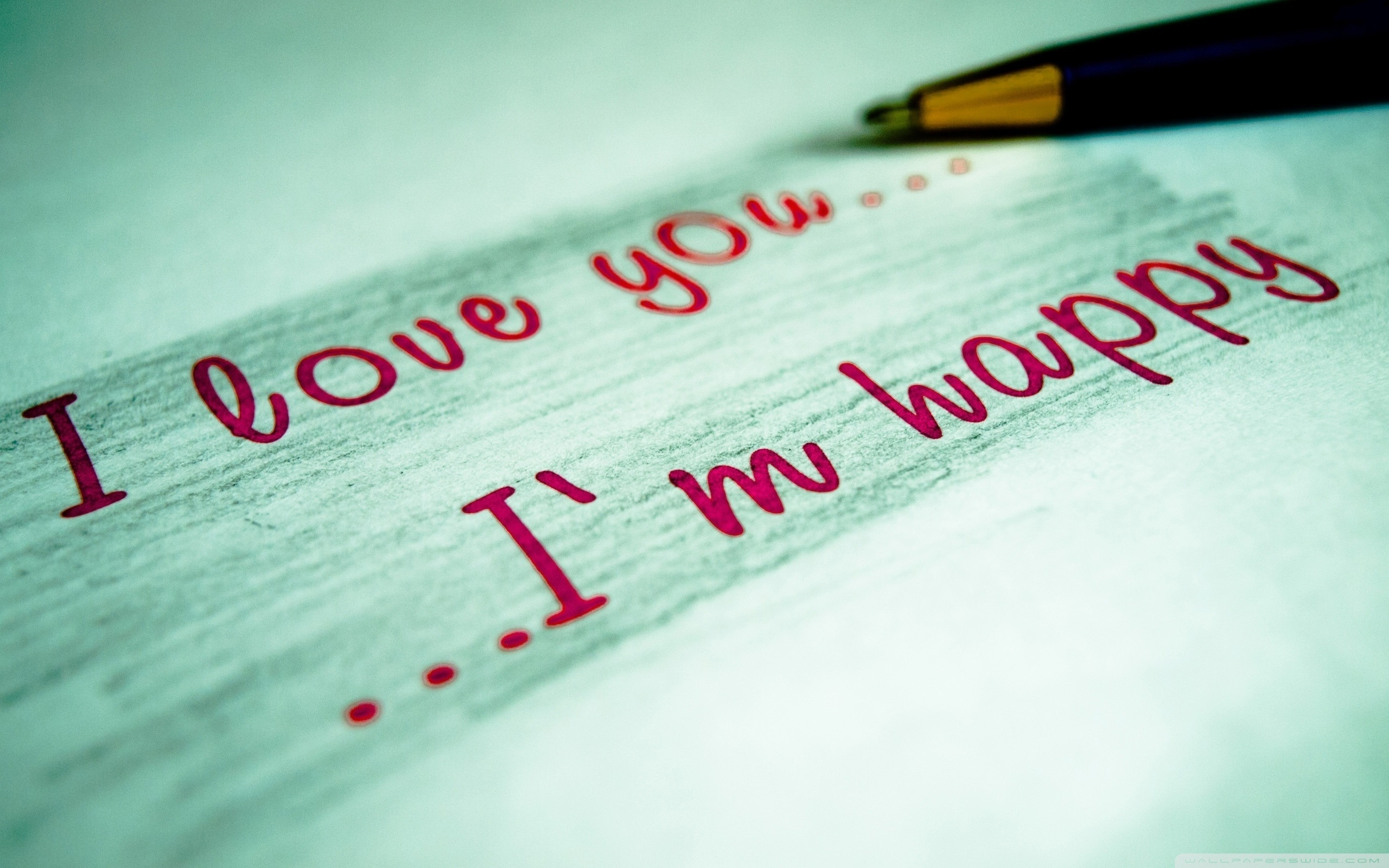 I Love You Full HD Wallpaper