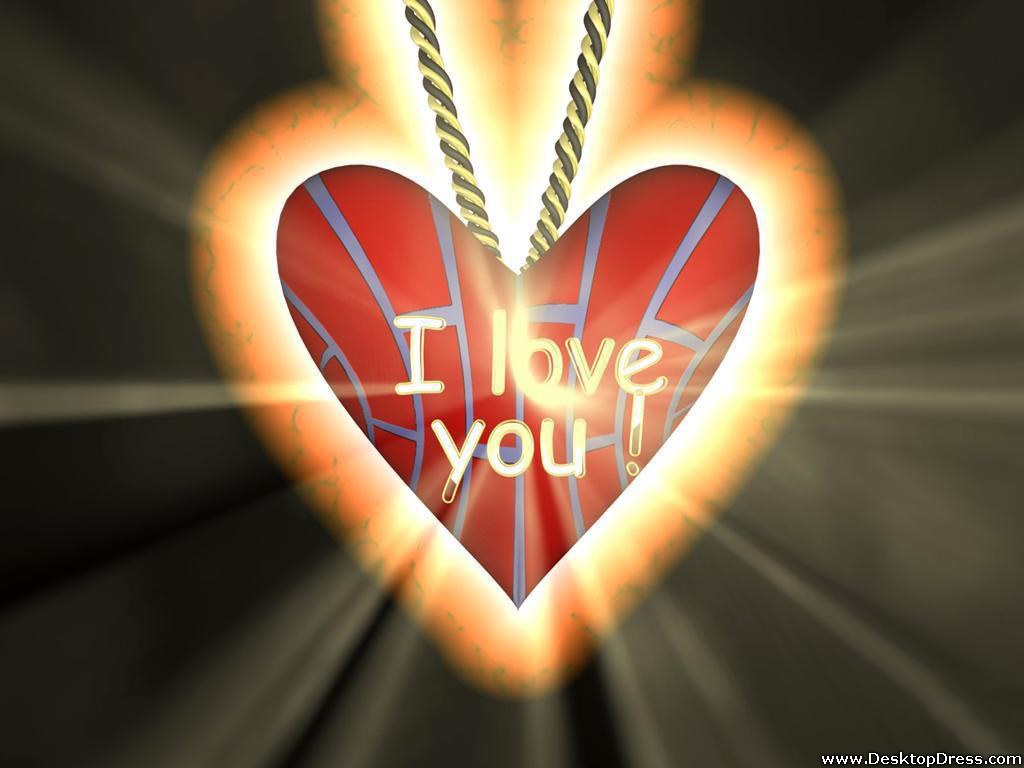 I Love You Heart Wallpaper 3D