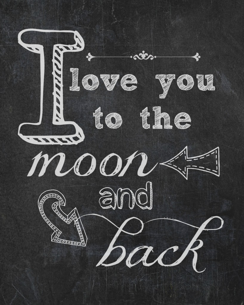 I Love You To The Moon And Back Wallpaper