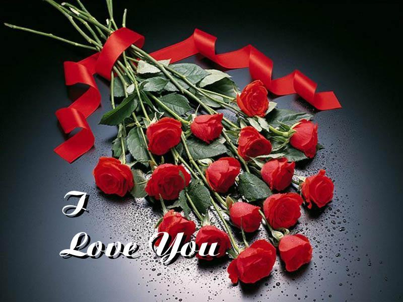I Love You With Rose Wallpaper